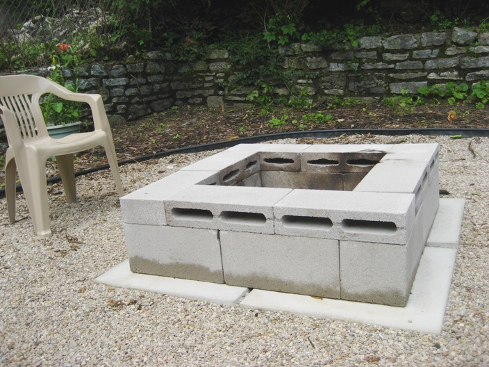I built a fire pit and you can too the dirty loft for How to build a fire pit with concrete blocks